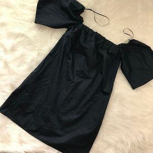 Zara Trafaluc Collection womens Medium navy top